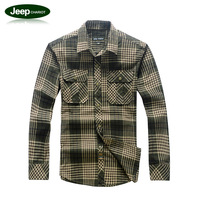 Jeep chariot plaid shirt with long sleeves shirt cotton Jeep chariot Taobao one generation