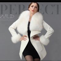 New Arrivel WInter Women Coat Faux Fur European&American Style Open Stitch Coats KB281