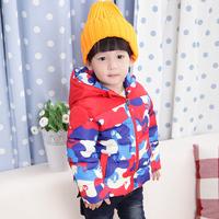 2014 Children's clothing child wadded jacket outerwear  child baby  Camouflage cotton-padded jacket