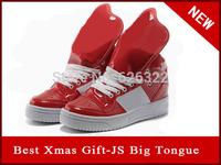 brand women's fashion sneakers metro attitude logo w shoes girls popular jeremy scott logo tongue shoes