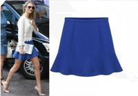 2014 Saia Women Short Chiffon Mini Skirt Blue Black Femininas Lady Skirt S M L XL  DR81933
