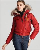 Red Bomber Anorak Jackets Winter Real Fur Gobi Women Materpiece Down Coat Overcoat Brand Parkas Dun Jakke Kvinner Kodiak 801