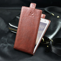 Hot Sale PU Leather Protective Case For Doogee DG310 Flip Leather CaseWith Card Slot UP And Down Cellphone Cover Black & Brown