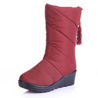 Free shipping  36-40 size  crust down to keep warm in the cylinder President casual boots a generation of fat down boots