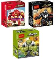 40PCS 7cm Minifigures Hulk Buster Venom Green Goblin Hulk Plastic Building Block Sets Action Figures super heros Christmas gift