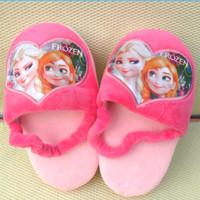5pair/lot 2014 New Baby Boys Girls Frozen Slippers Snow Queen Elsa Anna Plush Stuffed Shoes Kids Princess Home Children Shoes
