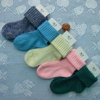 (5Pairs/Lot)Wholesale Retail Autumn and winter needle 100% children socks cotton yarn knit kid's baby socks