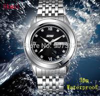 New SKmei Unisex 30m Waterproof Analog Watches Male Clock Dress Wristwatches Men Full Steel Fashion Casual Business Quartz Watch