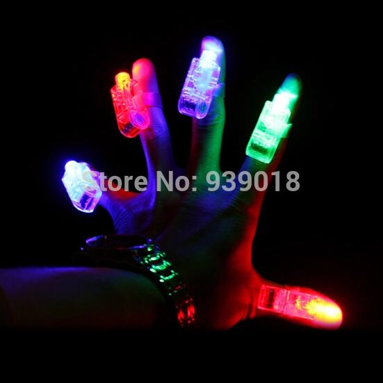 100pcs/lot Party Dance Flashing Finger LED Laser Beam Glow Torch Light Ring Xmas Gift free shipping(China (Mainland))