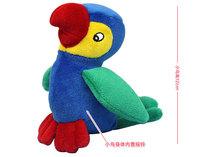 2014 Parrot rattles cloth doll plush toys infant educational toys