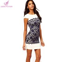 Vestidos Summer New Fashion Casual Dresses Women Office Ladies Slim Bodycon Lace Dress Plus Size Women's Clothing S M L XL XXL