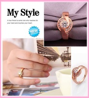 Free shipping new arrival women's rings 18K gold plated flower jewelry rings