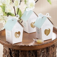 """Factory Outlet Wholesales """"Love Nest"""" Bird House Candy Favor Box Matching Personalized Tag Available +100pcs/lot +FREE SHIPPING"""
