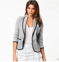 2014 autumn woolen silm fit blazer outerwear short design woolen outerwear women business suit coat