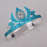 Retail  Crown   anna elsa crown hair hood girl's hair hood accessory Party Hair Accessories Queen Girls Crowns