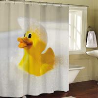 Bathroom products Yellow Duckies curtain bathroom shower curtain terylene bath curtain 180x200cm ,screen shower,curtain bath