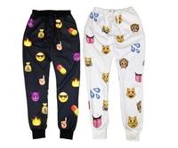 2014 Fashion women joggers hip hop pants,sublimation 3D emoji pants,emoji joggers pants,mens joggers,2 colors ,4 size
