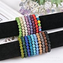 Crystal Ball Bracelet beads Shambhala DIY manual small woman bracelet jewelry Free shipping(China (Mainland))