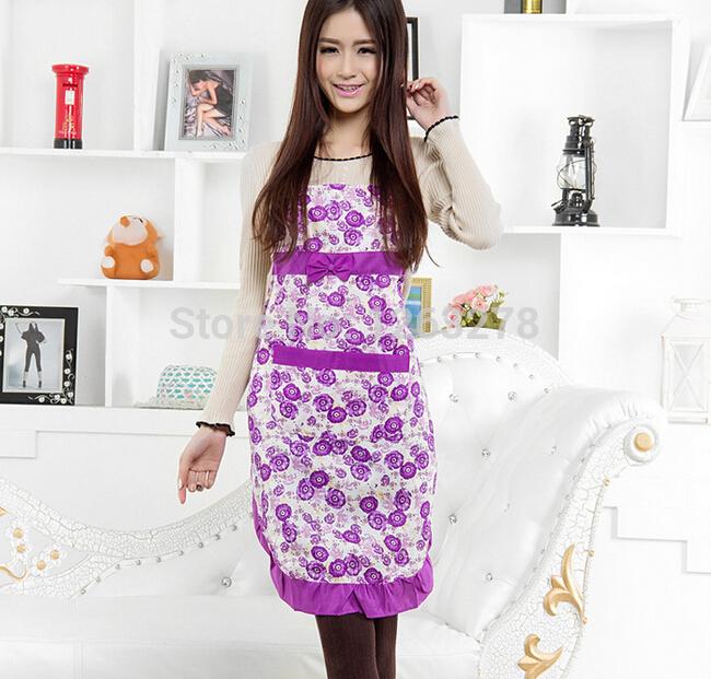 NEW Women LADIES Pretty APRON Flowers Vintage Party COOKING Kitchen Princess apron DRESS(China (Mainland))