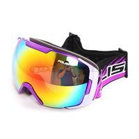 New 2014 POLISI Double Layer Lens Snow Goggle Optical UV400 Anti-Fog Ski Glasses Eyewear Snowboard Goggles Free Shipping