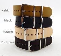 Free shipping Genuine Leather Military Watch Strap Band NATO G10 18mm 20mm 22mm 24mm - MM