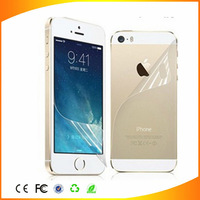 Cheap price for iphone 5s screen protector films HD clear protective film for iphone5 5c back and front