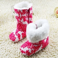 2014 NEW Baby Girls Winter boots Warm Girls Top Snow booties Anti-slip soft High boots/Toddler shoes for Infant Footwear