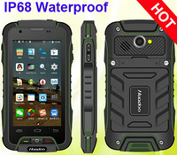 Rugged 4.0 inch orange Cell Phone Huadoo V3 Mobile phone Waterproof IP68 Android 4.4 MTK6582 Quad Core