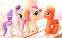 Horse doll. 1lot=2pieces. about 25cm. High quality .  Cute. Beautiful . Big eyes. Best animal toys gift.  IDA022