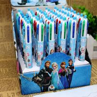 48pcs/lot FROZEN Snow Romance Adventure Snow Queen Magic 4-color ink Multi-color Ballpoint Pens