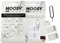 Noosy 3 in 1 Nano Micro Standard SIM Card Adapter+ Eject Pin( Handling needle ) for iPhone 5/6/6 Plus Samsung Galaxy S4 Hot Sale