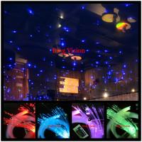 PMMA  fiber optic star ceiling kit  lighting,LED RGB  light source,150 strands 0.75mm fiber   ,2 meters long  24key remote