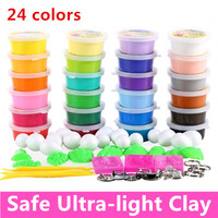 Ultra-light Polymer Clay 24 Colors Plasticine 3D Clay Set Child Space Clay Toy Play Doh Fimo Polymorph