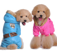 The Small Dog Pet clothing winter Puppy Cat keep warm clothes Coat Hoodie for dogs Pink Blue