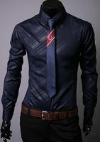 Free Shipping High Quality Fashion Businessman Like Twill Plus Size M-XXXL Long Sleeve Man 100% Cotton Shirts