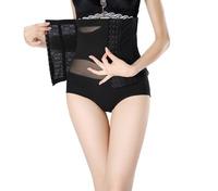 2014 women sexy luxury lace Control Waist Cinchers Body Shapers XJ1075 lady Underwear black skin color