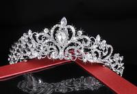New Arrival Gorgeous Birthday diadem rhinesonte princess bridal tiara wholesale wedding crown jewelry