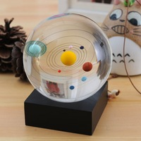 Free Shipping 2014 creative 80mm Solar system planets Crystal Ball home decoration Fengshui ball