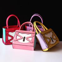 Hot sale 2014 fashion trend child handbag classic pu girl handbag children small messenger bag mini kids handbag party tote bag