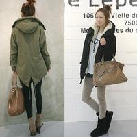 2014 new women winter thick fur jacket  long  gall swallowtail coat lamb warm woman overcoat trench cotton coat