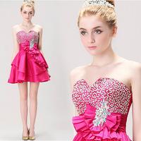 Rose bride short paragraph Bra tutu princess dress party dress evening dress factory wholesale trade