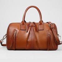 Hot Sale lady bag 100% Genuine leather Zipper Real handmade  2014 Leisure cowhide  Handbag Shoulder  women Bags