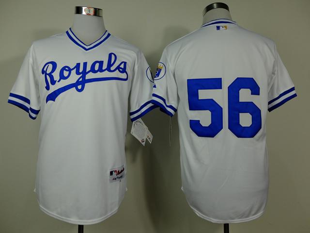 cheap 2014 free shipp.men's Kansas City Royals #56 Greg Holland baseball jersey/ shirt with tags and logos(China (Mainland))