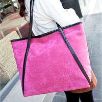 Top Fashion New Arrival Elegant Candy Corlor Nubuck Leather Women's Handbag Messenger Bag, Shoulder Bag, Tote Bag QC003