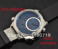 free shipping Welder by K32 Triple Time Zone Black Ion-Plated Steel Mens Watch K32 Blue indicators Watch