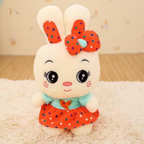 Coelho bonito dos desenhos animados com desenhos animados bonecas de pano Almofada Plush Doll, bonito dos desenhos animados boneca de brinquedo de pelúcia(China (Mainland))