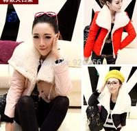 Hot hot new fall and winter fashion wild fur collar coat jacket slim short jacket Free Post