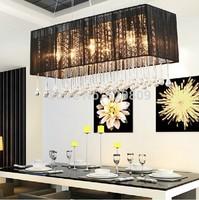 Free shipping L800*W260*H120cm 8-lights rectangle design crystal chandelier fashion lustre crystal light pendant