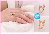 European style fashion simple LOVE letters ring female Free Shipping