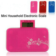 Super Mini Household Health Monitors Scale Digital Body Weight Balance Weight Scale Screen Retractable Capacity 150KG/330LB